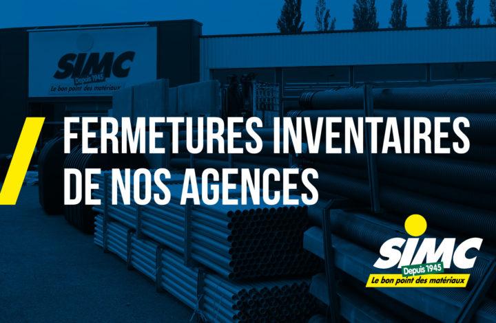 Inventaires 2018 – Matériaux SIMC