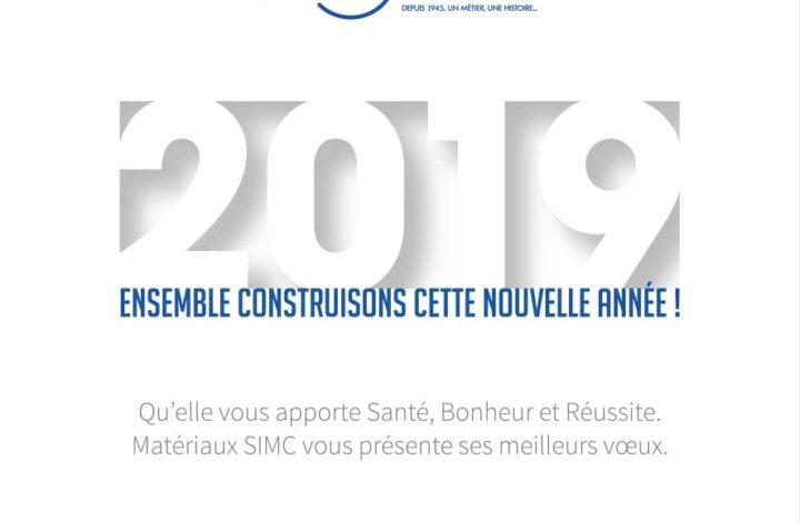 Bonne année 2019 avec le Groupe SIMC!